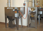 Stainless steel collectors are used for food processing.
