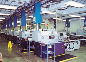 Mist collectors mounted on machining centers.