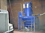 Industrial vacuum for cement dust.
