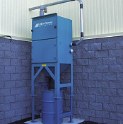 High vacuum system collects fiberglass dust.