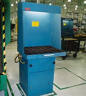 Single-station industrial paint booth.